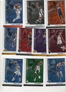 2017 18 PANINI NBA HOOPS 10-CARD Zero Gravity INSERT SET LeBron James Leonard