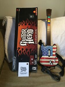 Playstation 2  Guitar Hero Red Octane  Wired Controller With Stickers On