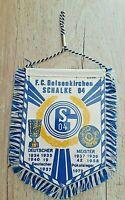 *RAR* Orig. Wimpel FC Schalke 04 Autowimpel 13 x 10 cm Fussball Gelsenkirchen