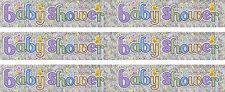 BABY SHOWER MULTI COLOUR FOIL BANNER BOY OR GIRL (BGC)
