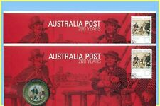 Australia Post 200 Years P.N.C. with Coloured $1 Coin (2)