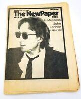 1980 The NewPaper December 10 JOHN LENNON Shooting Music Memoriam Newspaper RI