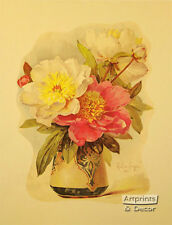 Peonies by Paul de Longpre  (Art Print of Vintage Art)