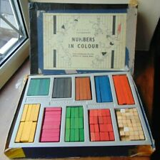 Vintage Maths Resource **NUMBERS IN COLOUR** Cuisenaire Rods for Counting 1960s