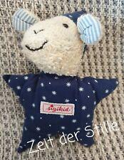 SIGIKID Mondschäfle Schaf Greifling mit Quietsche 15 cm blau weiß  Sterne