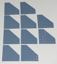Lego Lot of 10 New Sand Blue Wedges Plates 6 x 6 Cut Corner Parts