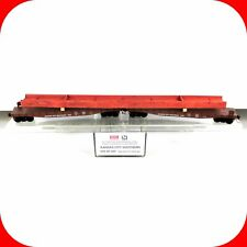 N Scale KCS KANSAS CITY SOUTHERN 50' Flat Car Pair, Steel Beam Load MICRO TRAINS