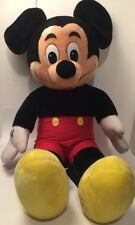 "Disneyland Mickey Mouse HUGE 38"" Stuffed Animal Plush Walt Disney World Vintage"