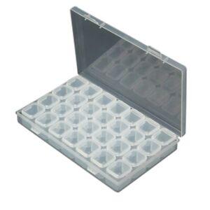 Beads Organizer Container Storage Box 28 Compartments app.11 x 17.5 x 2.5cm