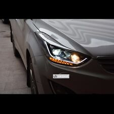 LED Q5 Style Dual Projector DRL Headlights For Hyundai Elantra 2011~2013