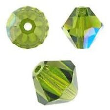 Genuine Swarovski Crystal Bicone. Olivine AB Color. 3mm. Approx. 144 PCS. 5328