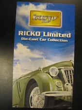 Ricko Ricko Limited Die-Cast Car Collection