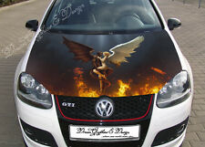 Angel and Demon Full Color Graphics Adhesive Vinyl Sticker Fit Car Bonnet #178