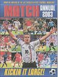 """VERY GOOD"" The ""Match"" Annual 2003, , Book"