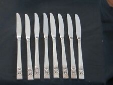"Oneida CORONATION 6 Hollow Grille Knives 8-1/2"" Community Silverplate Flatware"