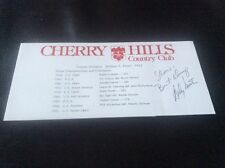 Andy North Golf Autograph Cherry Hills Scorecard US Open Denver