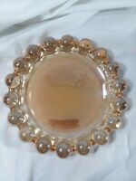 "Vintag large gold iridescent nova boopie glass ashtray anchor hocking mcm 7.5"""
