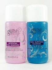 100% AUTHENTIC Gelish Artificial Nail Remover 4 oz + Nail Surface Cleanse 4 oz