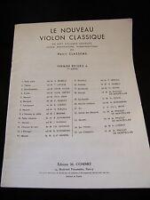 Partition Le nouveau violon classique Classens 1er recueil A Music Sheet