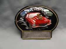 red car resin oval plaque car show trophy Bt797 (G5) award
