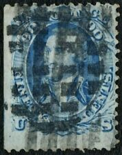 "US Sc# 72 USED { HUGE 90c WASHINGTON } FANCY CANCEL ""SCARCE FROM 1861 CV$ 600.00"