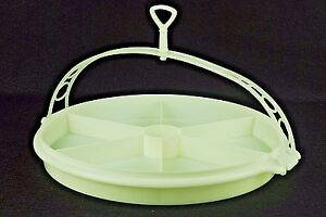 """Tupperware 12"""" cheese biscuits nuts and dips carry tray . Vintage"""