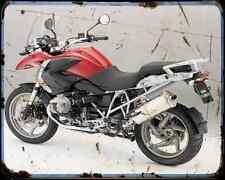 Bmw R1200Gs 11 4 A4 Metal Sign Motorbike Vintage Aged