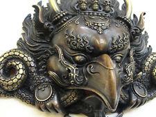 Garuda Mask Tibetan Buddhist Bronze Handcrafted from Nepal Very Detailed Large