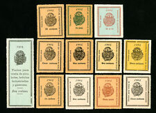 South America Stamps Complete Set of 12 All Different Revenues
