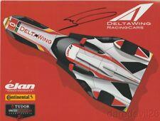 2014 Gabby Chaves signed DeltaWing Elan P IMSA TUSC postcard