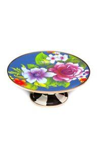 MacKenzie-Childs Flower Market Mini Pedestal Platter - Lapis