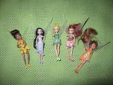 "Disney Store Fairies Mini Doll Lot of 5 Tinker Bell Figures Figurines 5"""