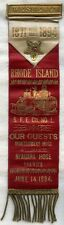 Fabulous, Huge 1894 Westerly, Rhode Island Steam Fire Engine #1 Parade Ribbon