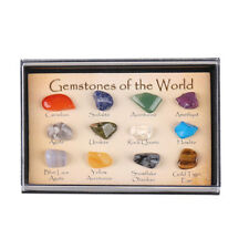 UK! Set of 15 Healing Crystal Natural Gemstone Reiki Chakra Collection Stone Kit