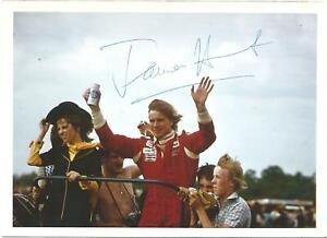 James Hunt Period Hand Signed F1 Scene Photograph
