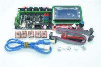 New 3D Printer Controller Kit MKS GEN-L Control Board  + 12864 LCD + 5pcs A4988
