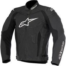 Giacche neri marca Alpinestars per motociclista pelle