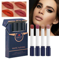 4Pcs/Set Women Matte Lipstick Waterproof Long Lasting Cosmetic Makeup Lip Gloss