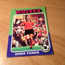 Topps 1975/76 Red/Grey Back Card #133 - Derek Parkin of Wolves