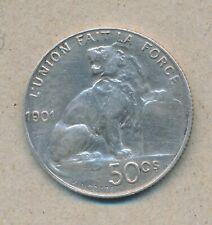 België/Belgique 50 ct. Leopold II 1901 Fr Morin 192 (120114)