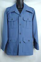 Vintage Retro 70s LEVIS PANATELA Disco Suit Jacket Blue Size Large Sport Coat