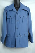 Vintage Retro 70s Levis Panatela Disco Suit Jacket Blue Size Large