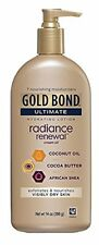 4 Pack Gold Bond Ultimate Hydrating Lotion, Renewal Cream Oil, 14 Oz Each Pump
