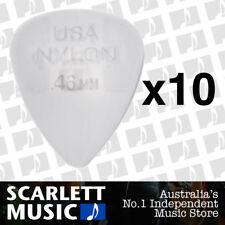 10 x Jim Dunlop Nylon Standard Greys .46mm Guitar Picks Plectrums 0.46 Grey