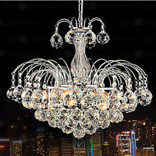 Luxury EU Crystal Clear Chandelier Lighting 3Lights Fixture Pendant Ceiling Lamp