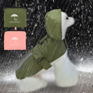 Reflective Dog Raincoat for Small Medium Dogs with Hoodie Waterproof Dog Jacket