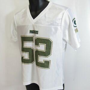 Clay Matthews Green Bay Packers Womens M NFL Team Apparel Football Jersey Bling