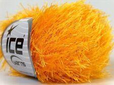 Canary Yellow Eyelash Yarn #22756 Ice Packer's Gold Fun Fur 50 gram