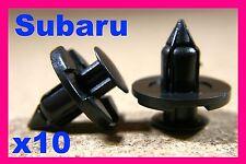 10 SUBARU avant pare-chocs arrière push type fastener clips 8mm