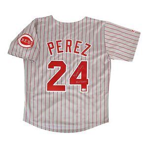 "Tony Perez signed Cincinnati Reds ""HOF 2000"" Grey Road Jersey BECKETT"